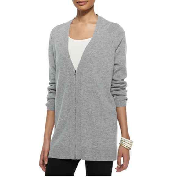 ea3a99f8176 Eileen Fisher Sweaters - Eileen Fisher V-Neck Zip Front Cashmere Sweater